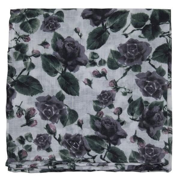 Mumu Weddings - Floral Falls Purple Pocket Square