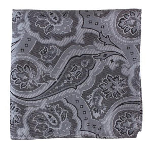 Improv Paisley Silver Pocket Square