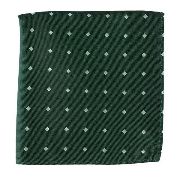 Checks & Balance Green Pocket Square