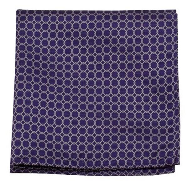 Chain Reaction Purple Pocket Square