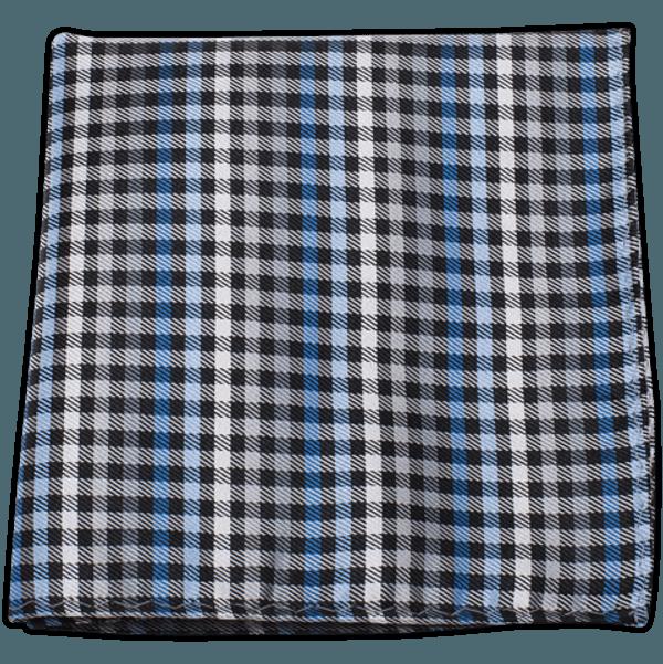 Daydream Plaid Black Pocket Square