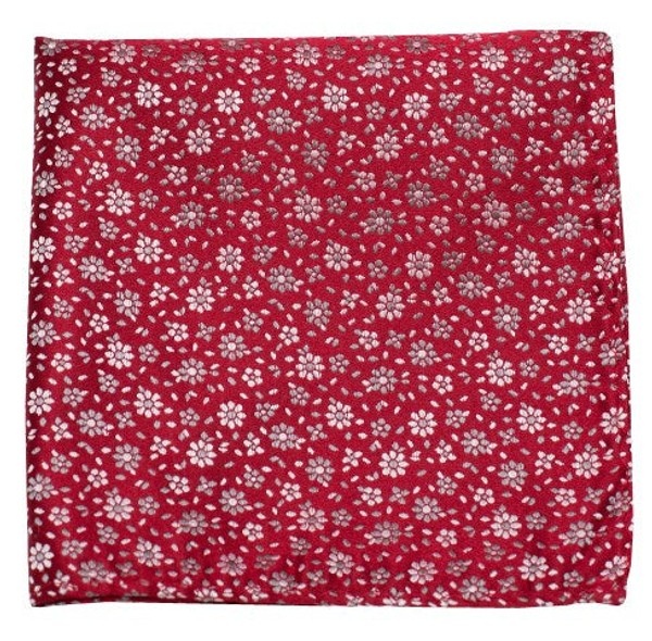 Milligan Flowers Red Pocket Square
