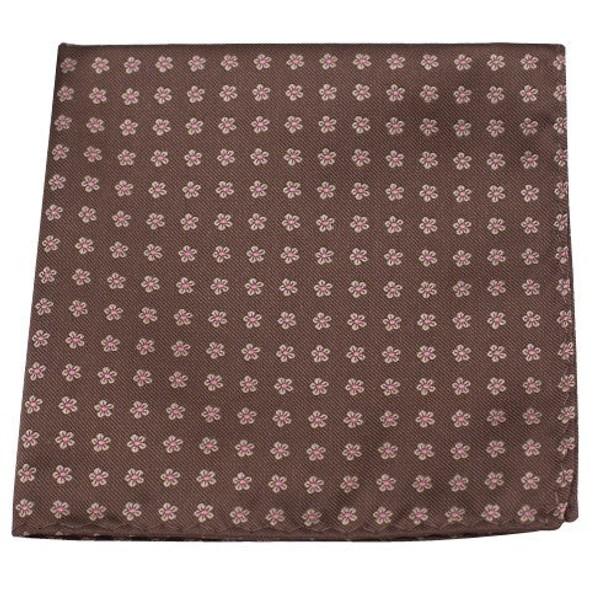 Anemones Chocolate Brown Pocket Square