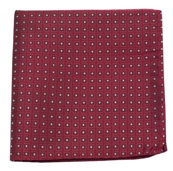 Wacker Drive Checks Red Pocket Square