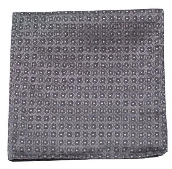 Wacker Drive Checks Grey Pocket Square