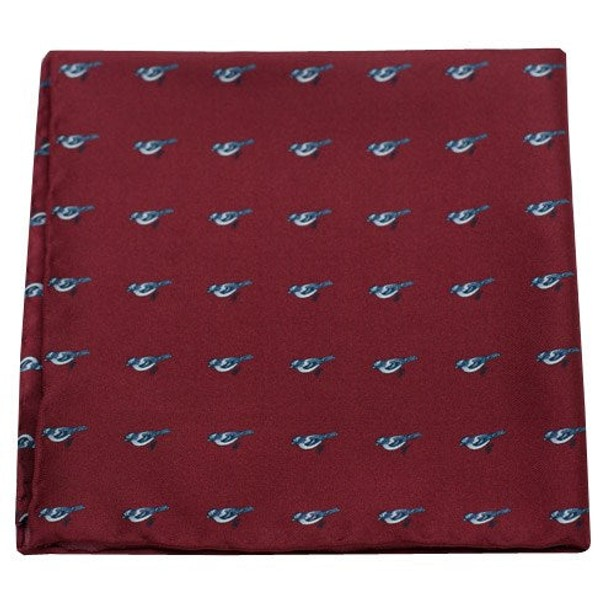 Twitcher Red Pocket Square