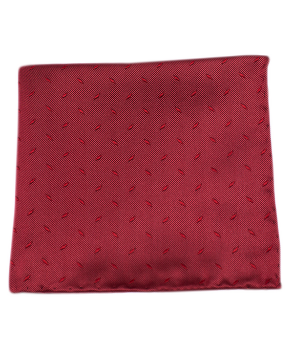 Industry Solid Red Pocket Square