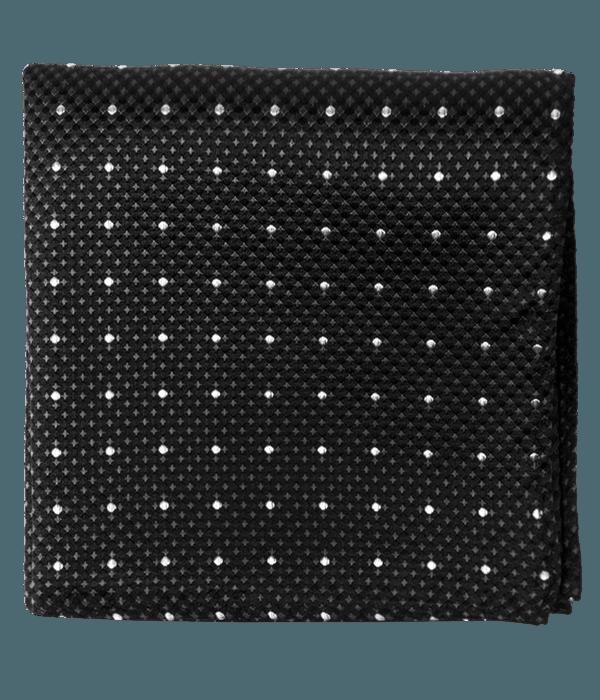 Vinyl Dots Black Pocket Square