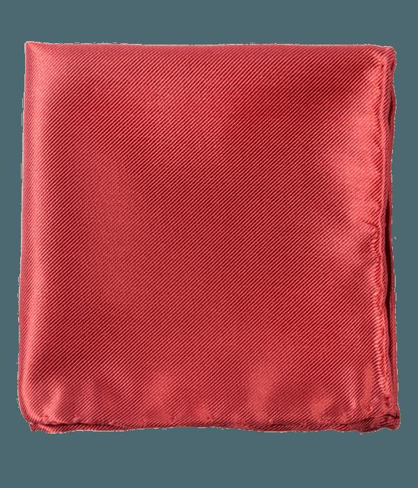 Solid Twill Marsala Pocket Square
