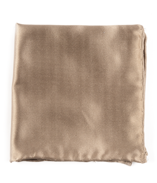 Solid Twill Champagne Pocket Square