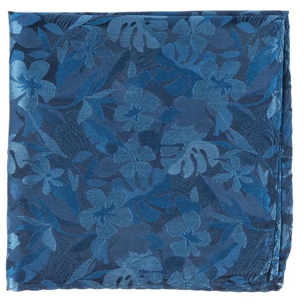 Island Floral Classic Blue Pocket Square