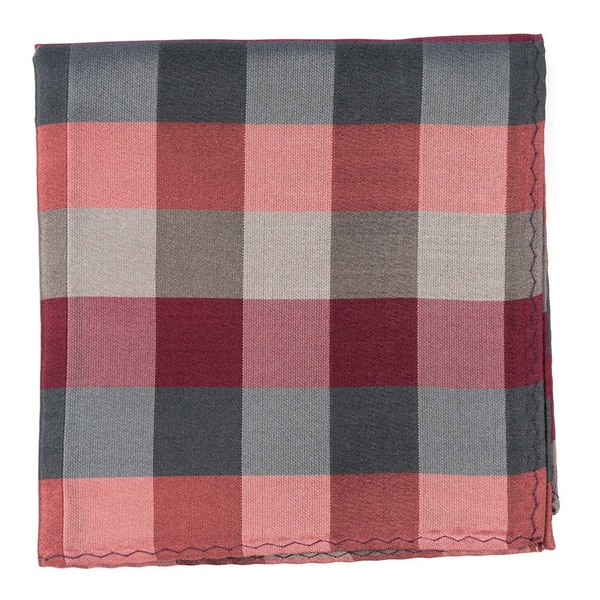 Stout Gingham Red Pocket Square