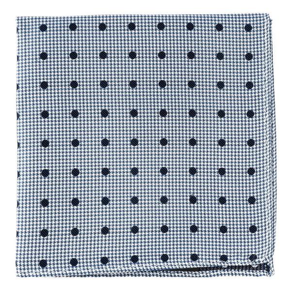 Surface Dots Navy Pocket Square