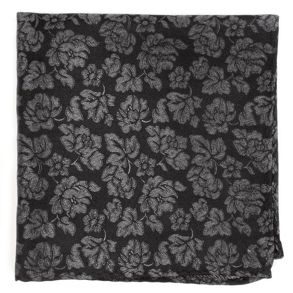 Intellect Floral Black Pocket Square