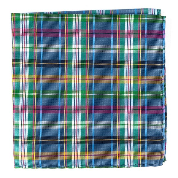 Corrigan Plaid Periwinkle Pocket Square