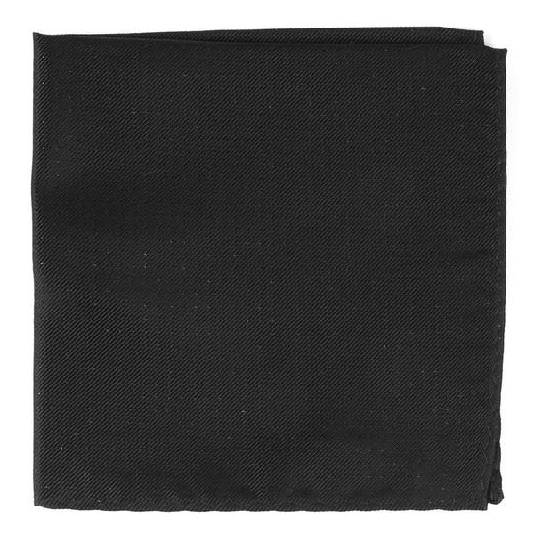 Flicker Black Pocket Square