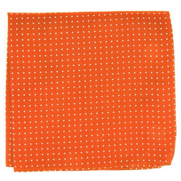 Mini Dots Orange Pocket Square