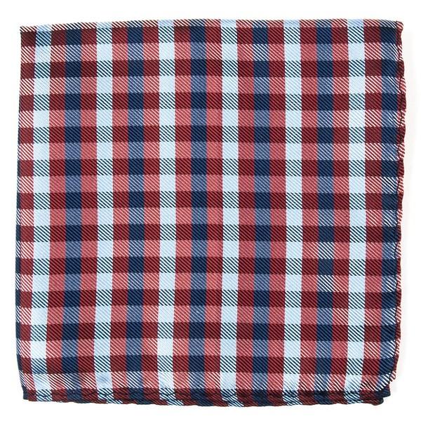 Polo Plaid Red Pocket Square