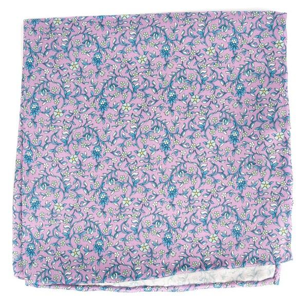 Peninsula Floral Lilac Pocket Square