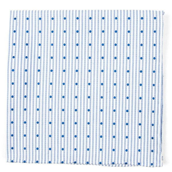 Down The Aisle Dots Classic Blue Pocket Square