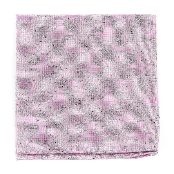 Hanging Paisley Baby Pink Pocket Square