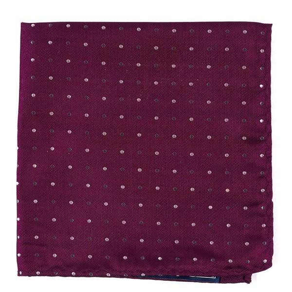 Jpl Dots Deep Azalea Pocket Square
