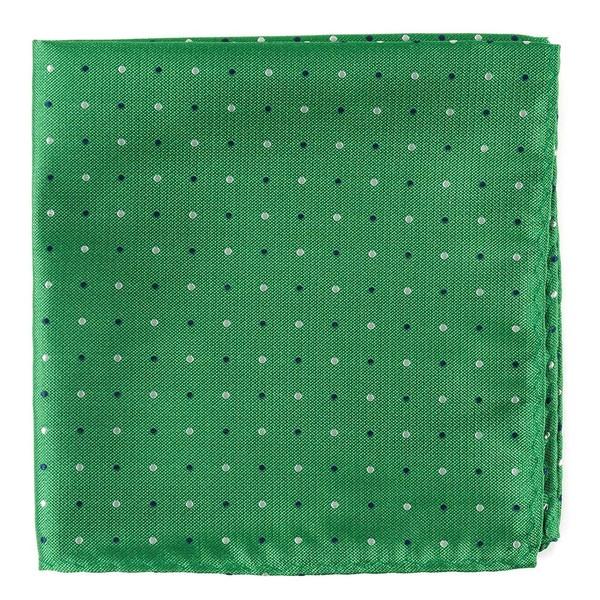 Jpl Dots Clover Green Pocket Square
