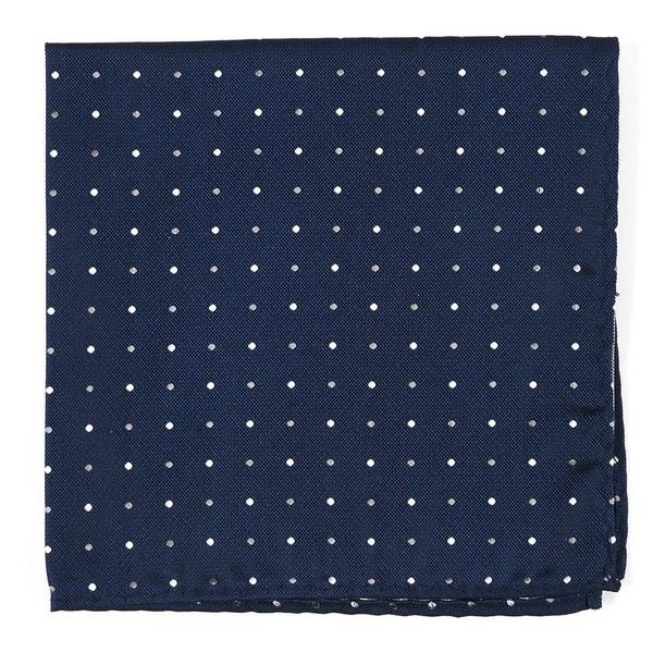 Jpl Dots Navy Pocket Square