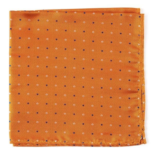 Jpl Dots Orange Pocket Square