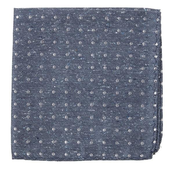 Knotted Dots Serene Blue Pocket Square