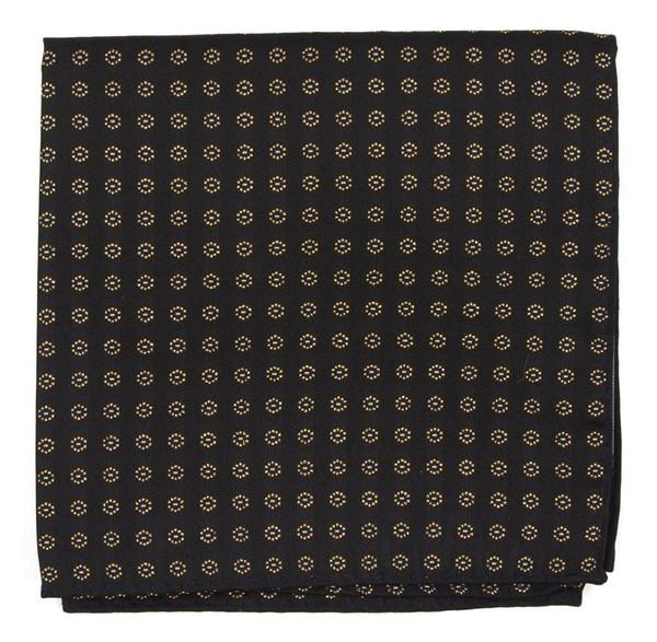 Eagle Eye Medallion Classic Black Pocket Square