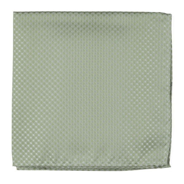 Be Married Checks Sage Green Pocket Square