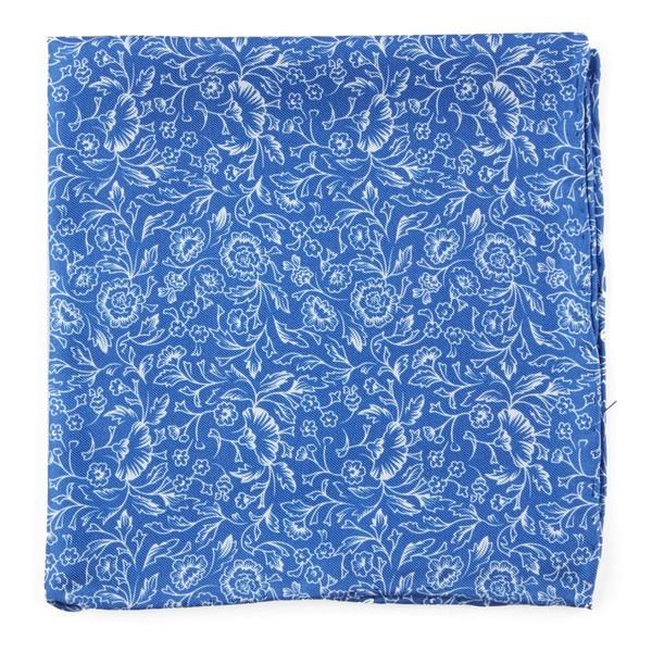 Bracken Blossom Royal Blue Pocket Square