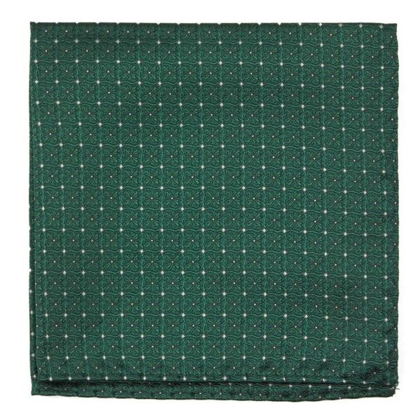Medallion Lane Emerald Green Pocket Square