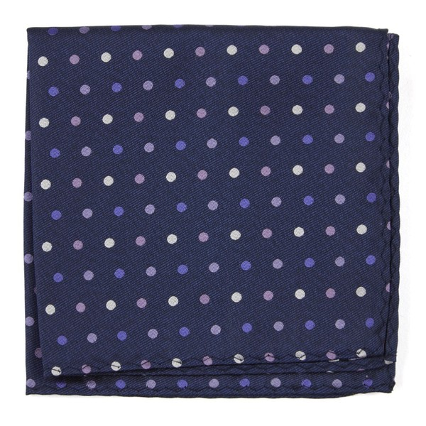 Spree Dots Purples Pocket Square