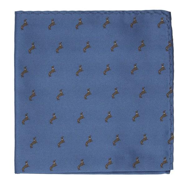 Dog Days Slate Blue Pocket Square