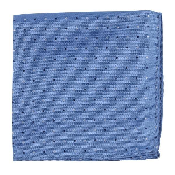 Jpl Dots Light Blue Pocket Square