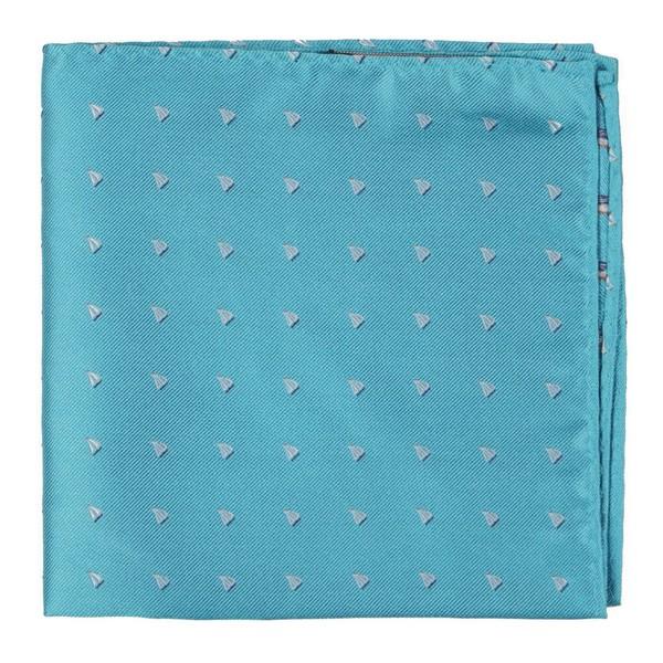 Sailboat Sprint Turquoise Pocket Square