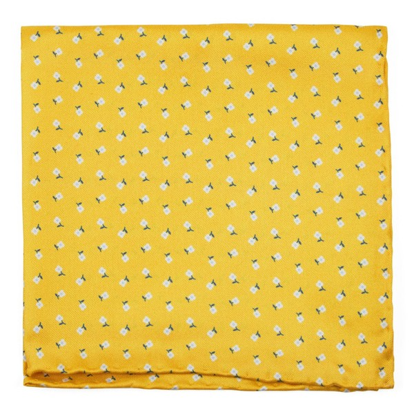 Wonder Floral Yellow Gold Pocket Square