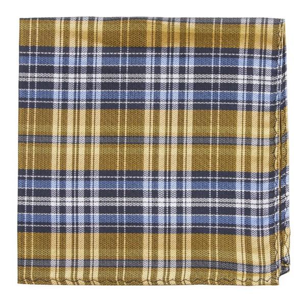 Motley Plaid Yellow Pocket Square