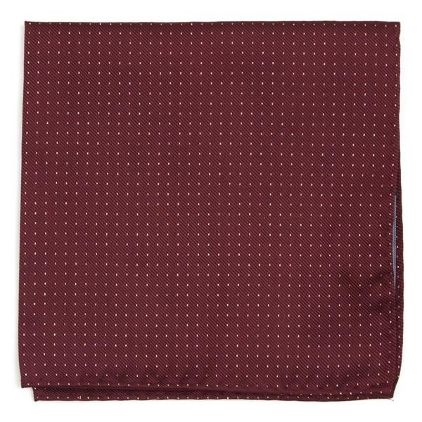 Flicker Burgundy Pocket Square