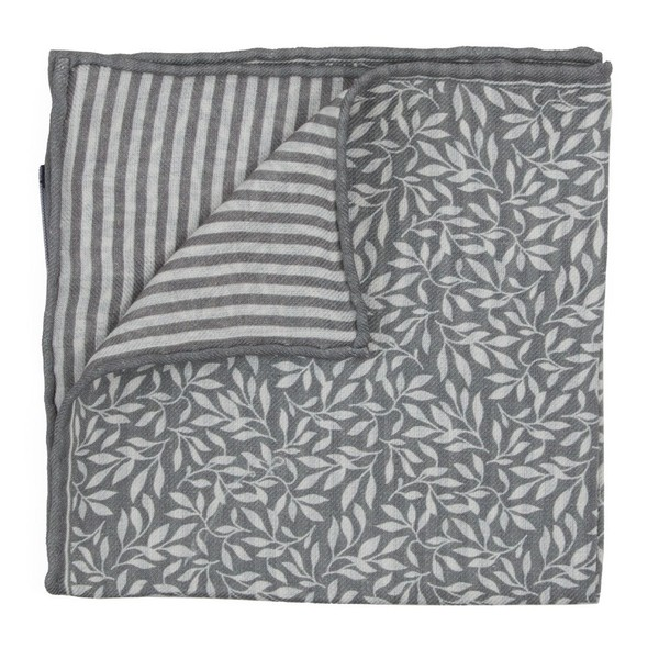 Sprout Measure Grey Pocket Square