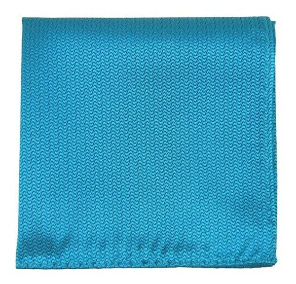 Static Solid Teal Pocket Square