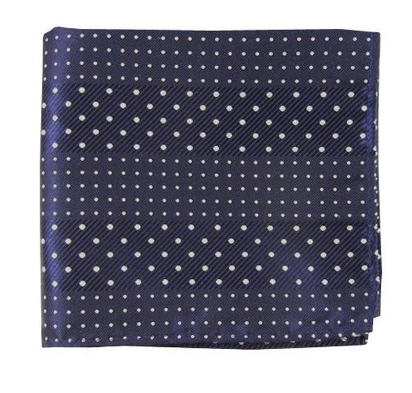 Pulsating Dots Navy Pocket Square