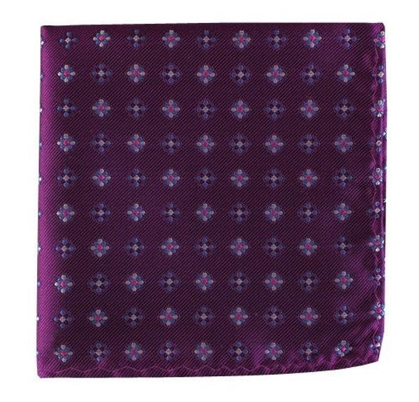 Juneberry Plum Pocket Square