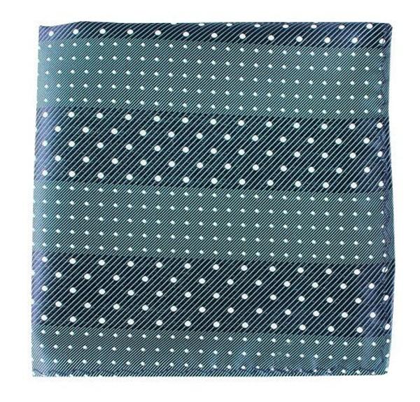 Pulsating Dots Washed Green Teal Pocket Square