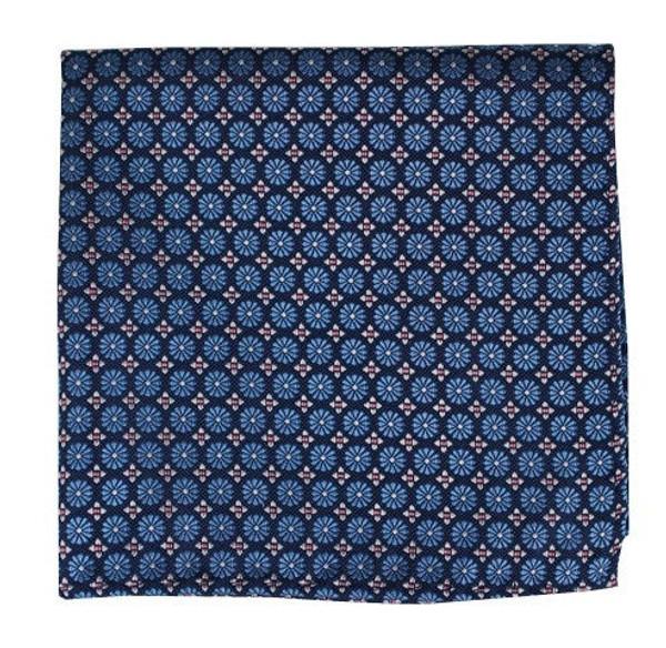 Wallflower Cornflower Blue Pocket Square