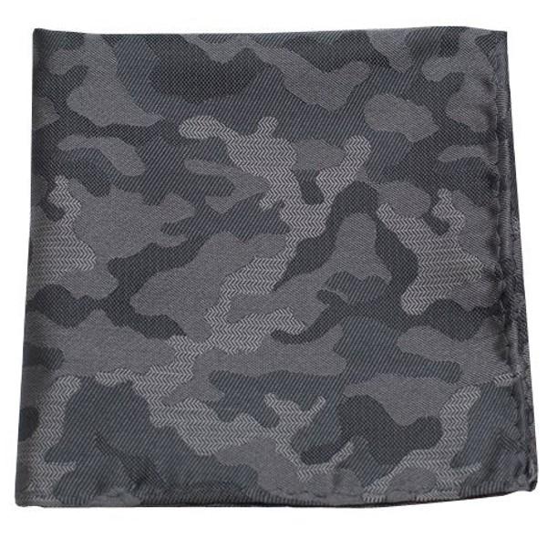 Camo Charcoal Pocket Square