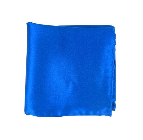 Solid Satin Serene Blue Pocket Square