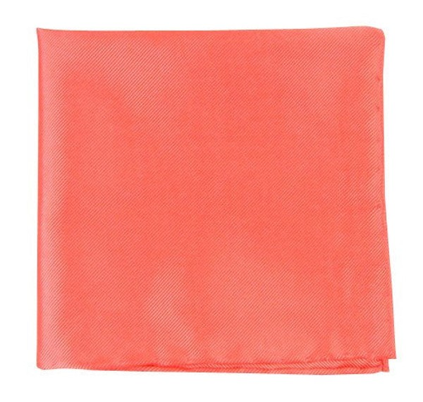 Solid Twill Coral Pocket Square